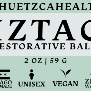 Iztac balm product label