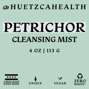 Perichor Cleansing Mist label