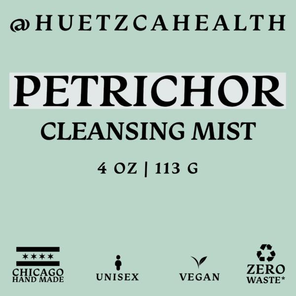 Perichor Cleansing Mist label
